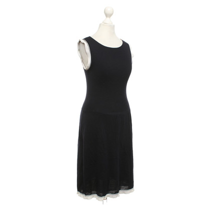 Valentino Knit dress in dark blue / cream