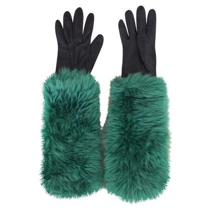 Prada Pelz-Handschuhe