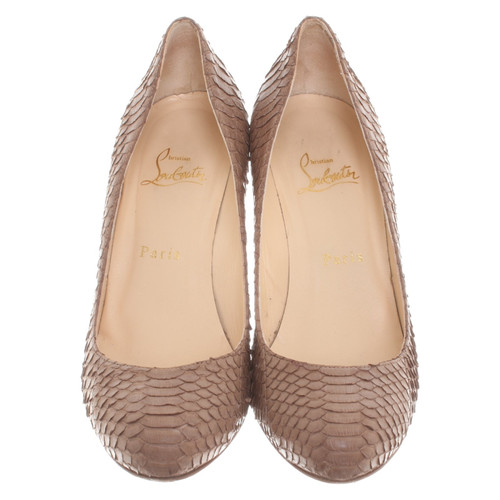 57a6a7e07dff Christian Louboutin pumps made of snakeskin - Second Hand Christian ...