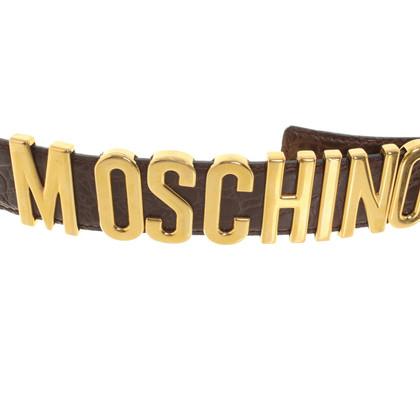 Moschino Cintura con applicazione logo
