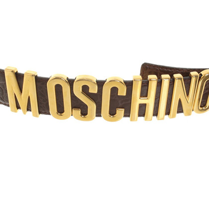 Moschino Gürtel mit Logo-Applikation