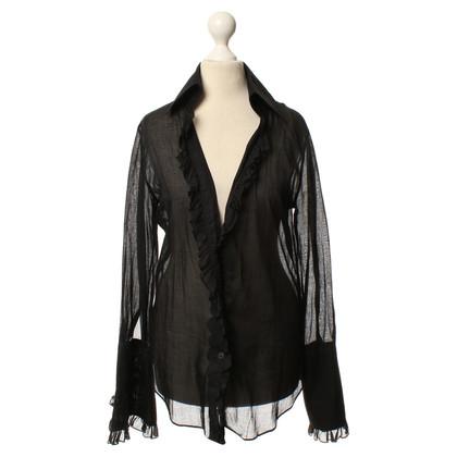 Dolce & Gabbana Ruffle blouse in zwart
