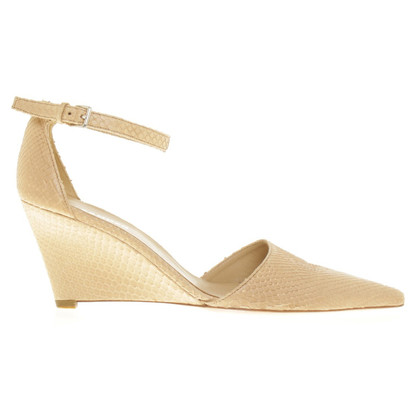 Jil Sander Wedges slangenhuid