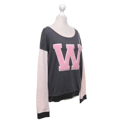 Wildfox Sweatshirt in grey / Rosé