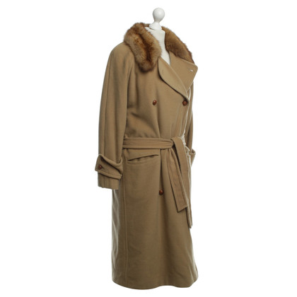 Jil Sander Fur coat in camel Brown