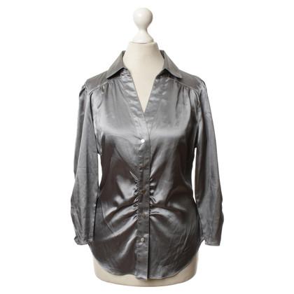 BCBG Max Azria Glinsterende blouse in zilver