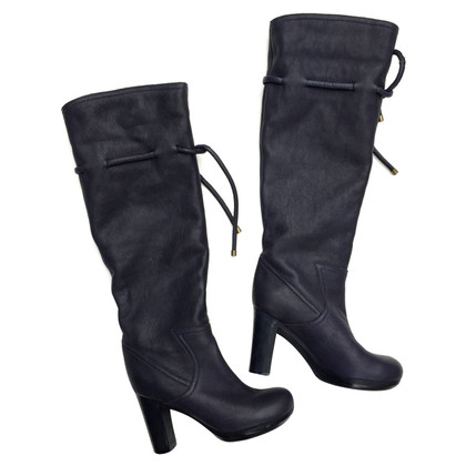 See by Chloé Dark blue leather boots