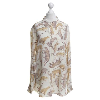 Equipment Silk blouse with animal design
