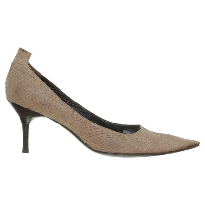 Helmut Lang pumps in reptiel afwerking