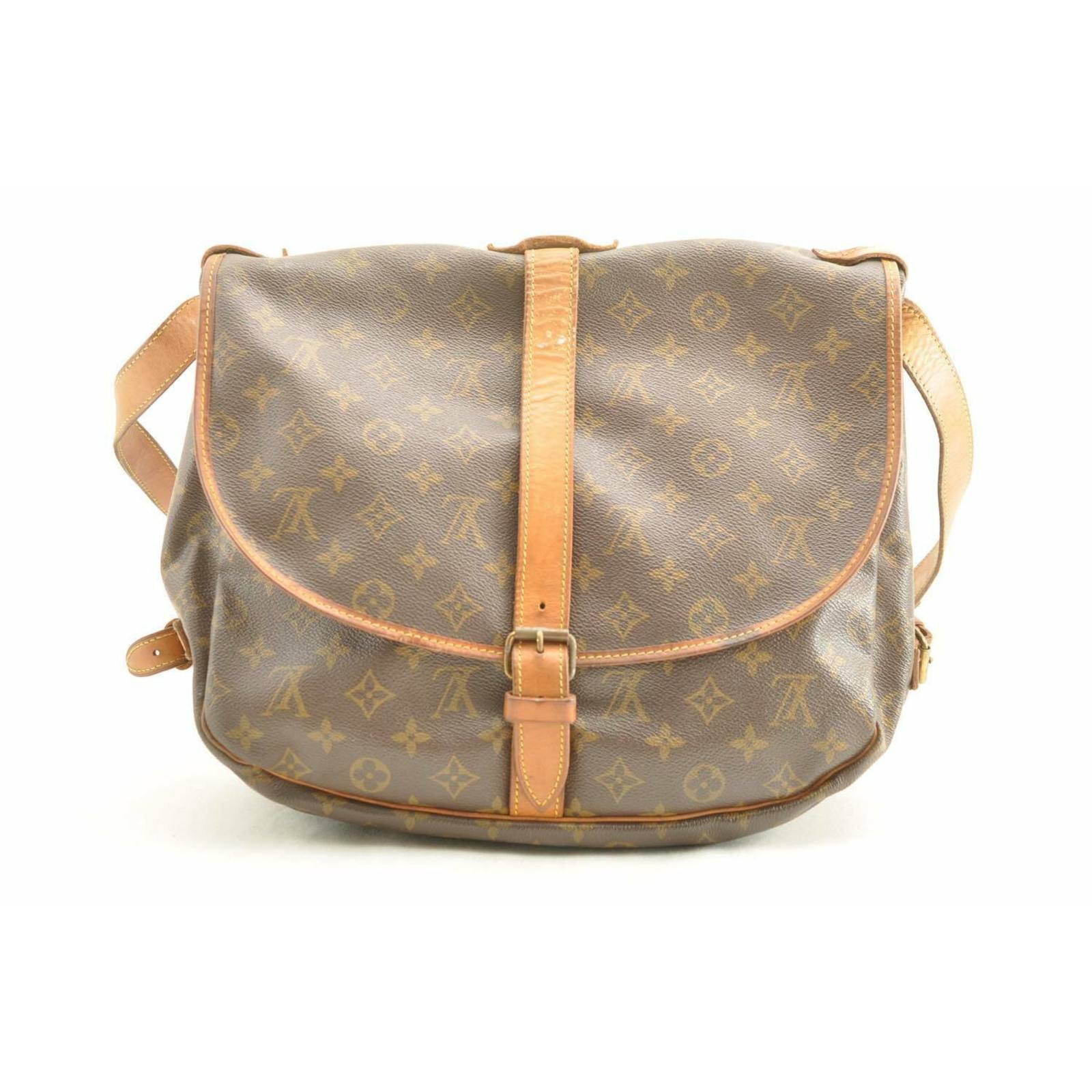 taglia 40 1565e 97b95 Louis Vuitton Borsa a tracolla in Tela in Marrone - Second hand ...