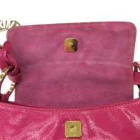 Fendi clutch patent leather