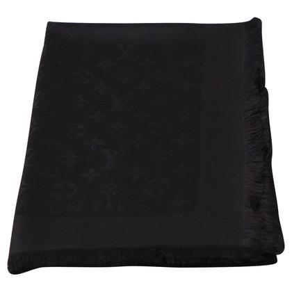 Louis Vuitton Tissu Shine Monogram en noir / argent