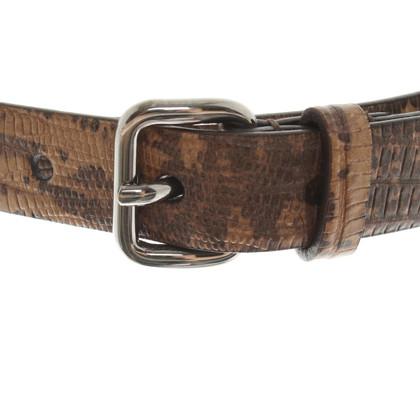 Miu Miu Cintura in look di rettile