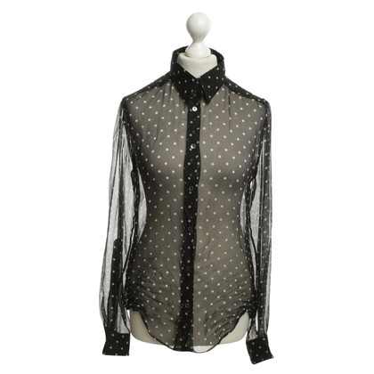 Dolce & Gabbana Transparent silk blouse