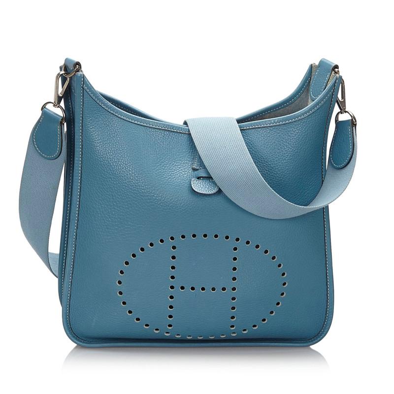 Hermès Evelyne PM 29 aus Leder in Blau