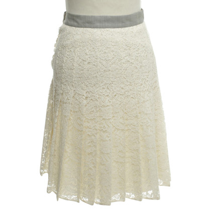 La Perla Pleated skirt in beige / grey