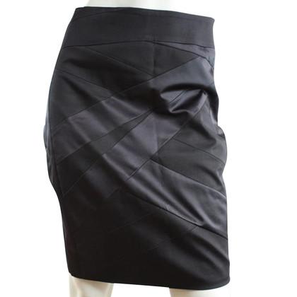 Karen Millen Zwarte glanzende rok