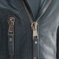 Balenciaga Leather jacket in blue