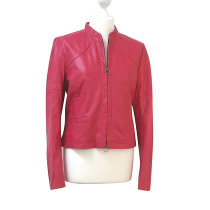 Riani Leather Jacket in Fuchsia