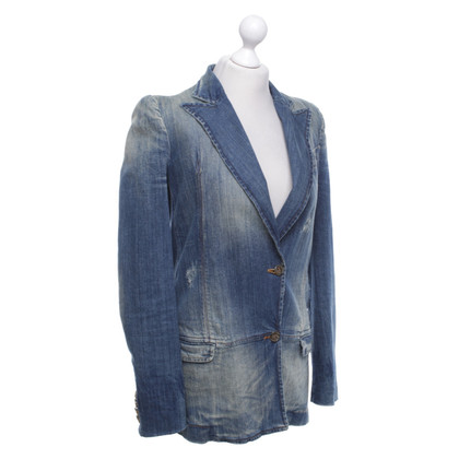 Just Cavalli Jeans blazer with wash