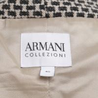 Armani Collezioni Kurzjacke mit Hahnentrittmuster