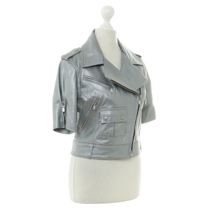Belstaff Lederjacke in Metallic