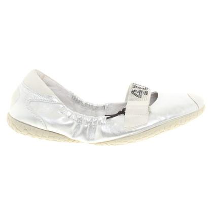 Cesare Paciotti Zilverkleurige slippers