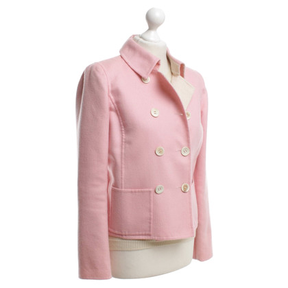 Oscar de la Renta Blazer with knit top in pink / beige