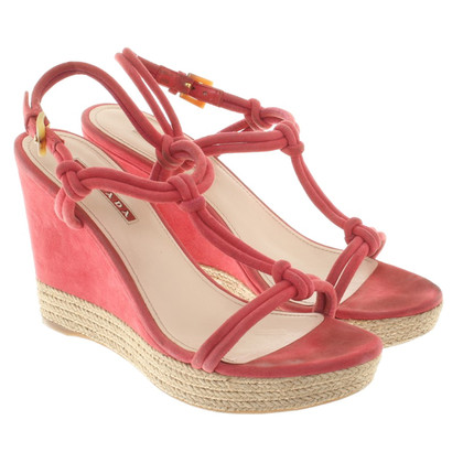Prada Wedges in Pink