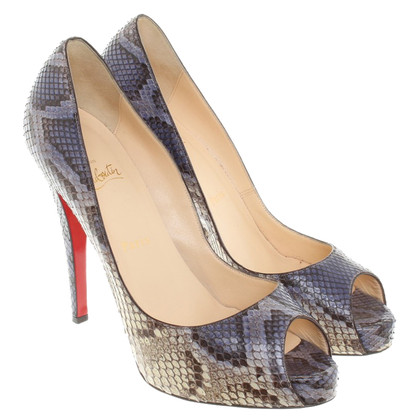Christian Louboutin Peep-toes from snake