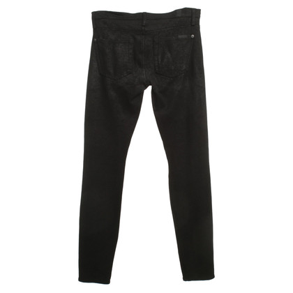 7 For All Mankind Hose in Schwarz