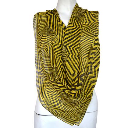 Alexander McQueen Zijden sjaal met patroon