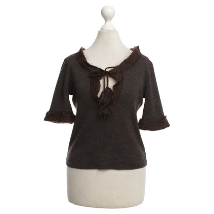 Miu Miu Short pullover in brown