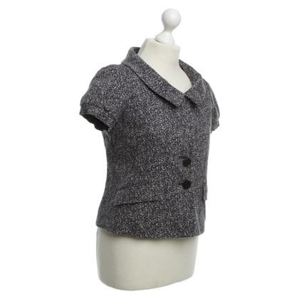 Theory Short sleeve Blazer with polka dot pattern