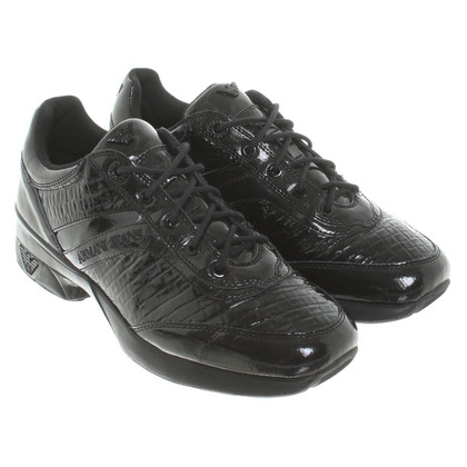 Armani Jeans Patent leather sneakers