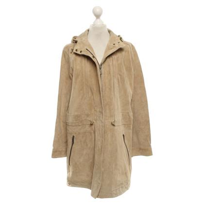 Michael Kors manteau en daim beige
