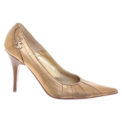 Just Cavalli Goldfarbene Pumps