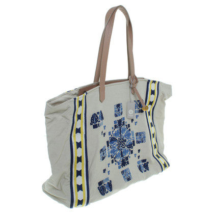 Hoss Intropia Canvas shopper met decoratieve bekleding