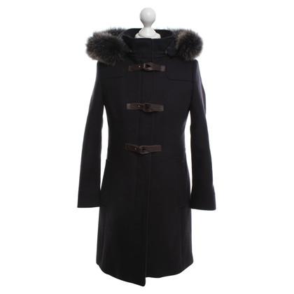 Mabrun Manteau avec garniture en fourrure véritable
