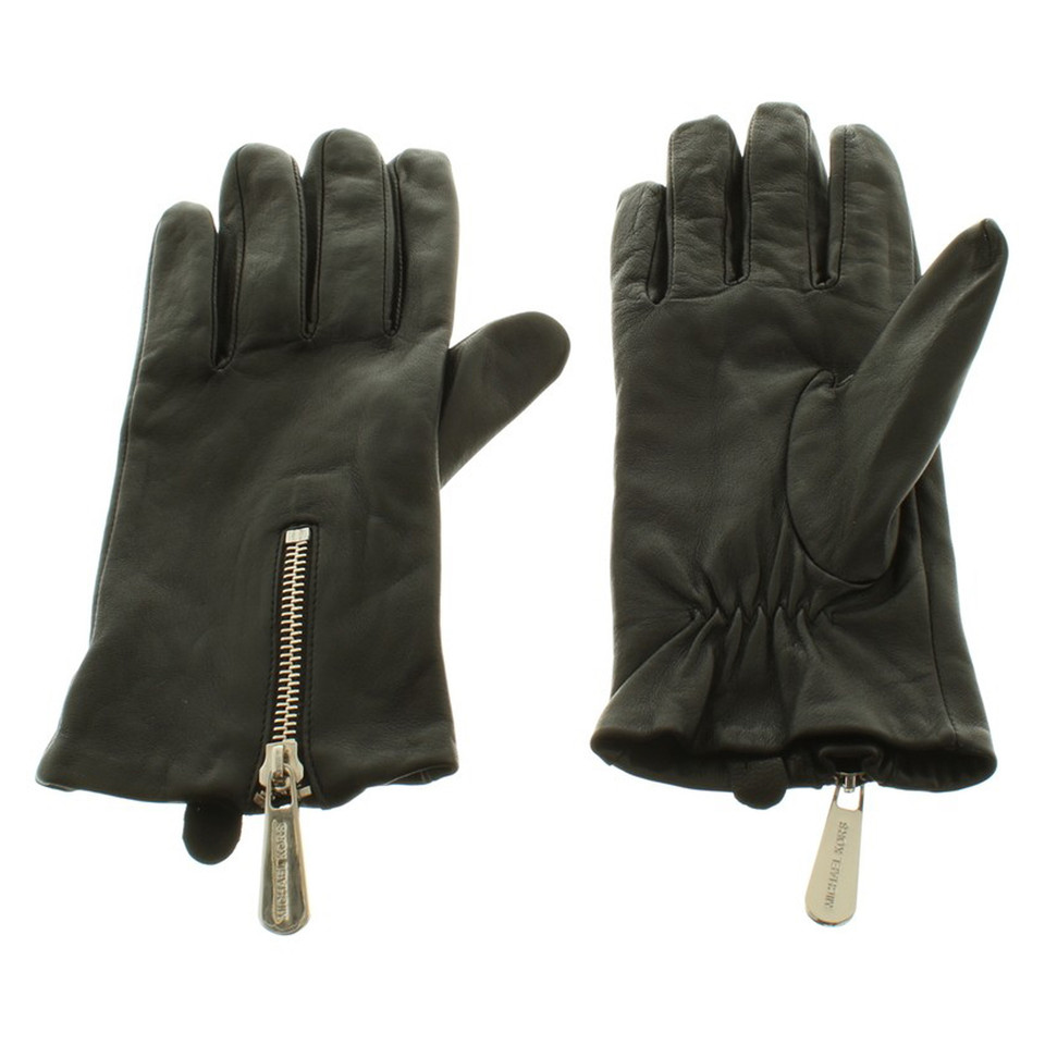 Michael Kors Leather gloves in black