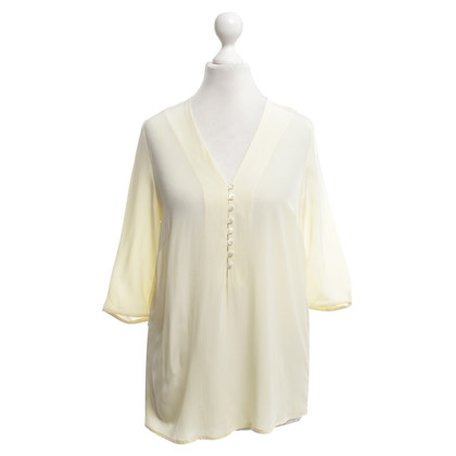 Sandro Silk blouse in lemon yellow