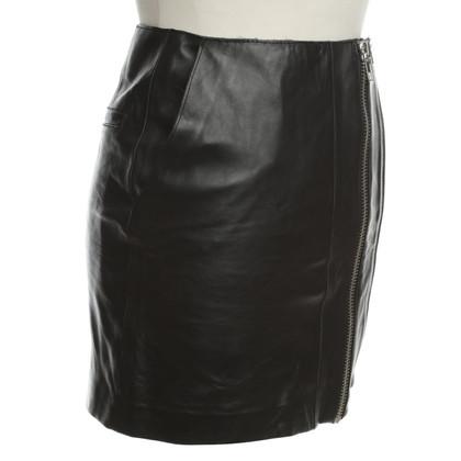 Maje Leather Miniskirt