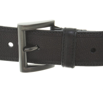Prada Leather Belt in zwart