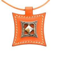 Hermès Halskette in Orange