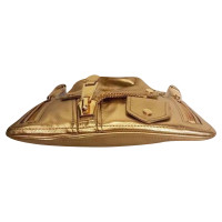 Moschino Gold color clutch