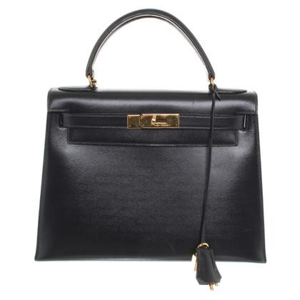 "Hermès ""Kelly Bag 28"" in donkerblauw"
