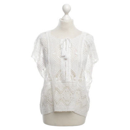 Antik Batik Spitzentop in White