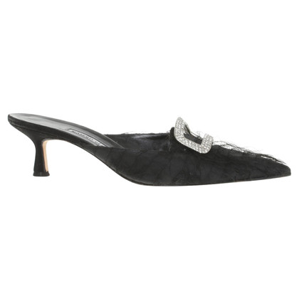 Manolo Blahnik Slingbacks in Schwarz