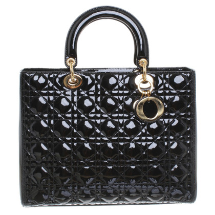 "Christian Dior ""Lady Dior"" in vernice nera"