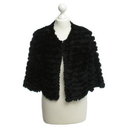 BCBG Max Azria Fur jacket in black